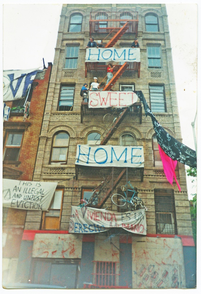 Lower East Side shortly before a series of Memorial Day weekend evictions in Alphabet City, 1995, image c/o Peter Spagnuolo