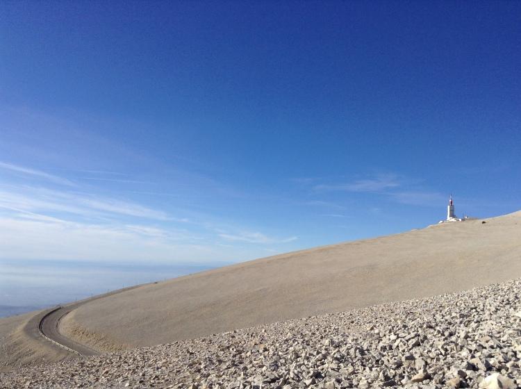 Mont Ventoux curving road