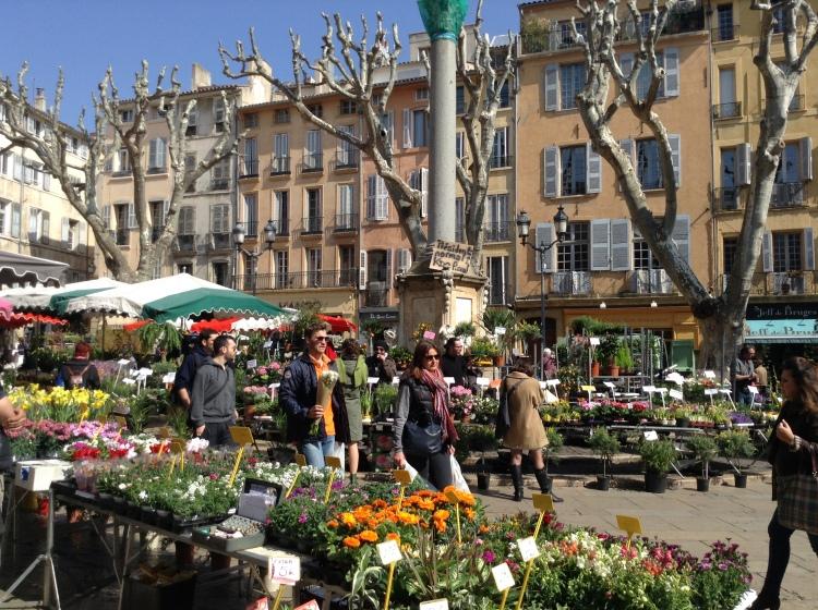 flower market Aix