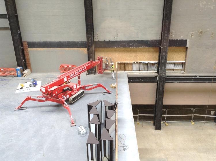 Work continuing at Tate Modern, London