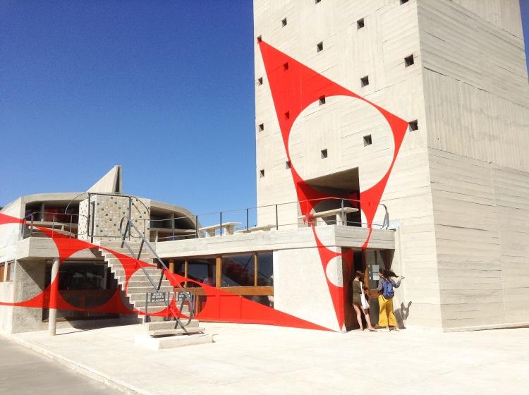 Felice Varini roof top installation